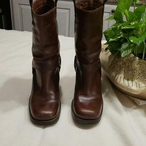 Mia Mid Calf Leather  Boots